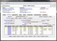 Datatrax Accounts Receivable Screen Shot